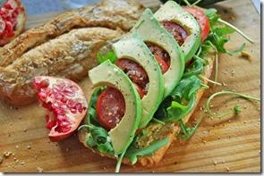 aguacate en sandwich